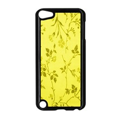 Flowery Yellow Fabric Apple Ipod Touch 5 Case (black)