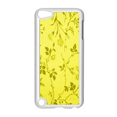 Flowery Yellow Fabric Apple Ipod Touch 5 Case (white)