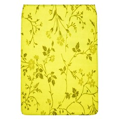 Flowery Yellow Fabric Flap Covers (L)