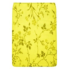 Flowery Yellow Fabric Flap Covers (S)