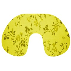 Flowery Yellow Fabric Travel Neck Pillows