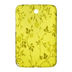 Flowery Yellow Fabric Samsung Galaxy Note 8.0 N5100 Hardshell Case