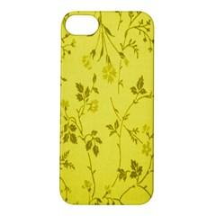 Flowery Yellow Fabric Apple iPhone 5S/ SE Hardshell Case