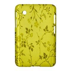 Flowery Yellow Fabric Samsung Galaxy Tab 2 (7 ) P3100 Hardshell Case