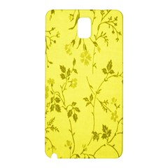 Flowery Yellow Fabric Samsung Galaxy Note 3 N9005 Hardshell Back Case