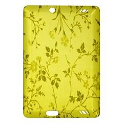 Flowery Yellow Fabric Amazon Kindle Fire HD (2013) Hardshell Case