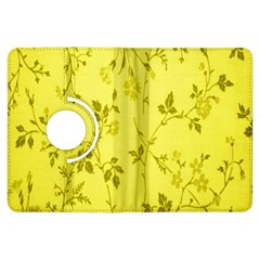 Flowery Yellow Fabric Kindle Fire Hdx Flip 360 Case