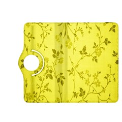 Flowery Yellow Fabric Kindle Fire HDX 8.9  Flip 360 Case