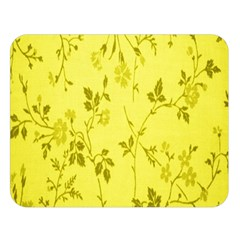 Flowery Yellow Fabric Double Sided Flano Blanket (large)
