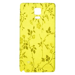 Flowery Yellow Fabric Galaxy Note 4 Back Case