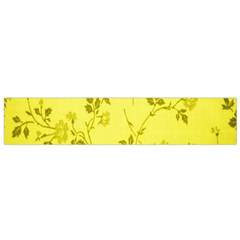 Flowery Yellow Fabric Flano Scarf (small)