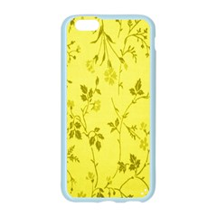 Flowery Yellow Fabric Apple Seamless iPhone 6/6S Case (Color)