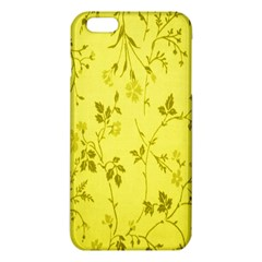 Flowery Yellow Fabric Iphone 6 Plus/6s Plus Tpu Case