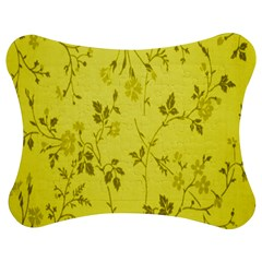 Flowery Yellow Fabric Jigsaw Puzzle Photo Stand (Bow)