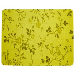 Flowery Yellow Fabric Jigsaw Puzzle Photo Stand (Rectangular)