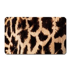 Giraffe Texture Yellow And Brown Spots On Giraffe Skin Magnet (Rectangular)