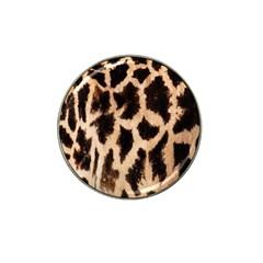 Giraffe Texture Yellow And Brown Spots On Giraffe Skin Hat Clip Ball Marker (4 pack)