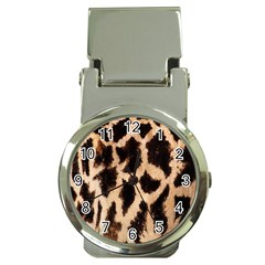 Giraffe Texture Yellow And Brown Spots On Giraffe Skin Money Clip Watches
