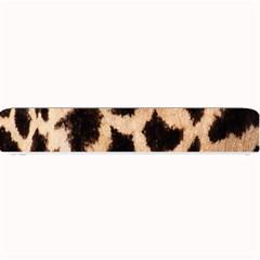 Giraffe Texture Yellow And Brown Spots On Giraffe Skin Small Bar Mats