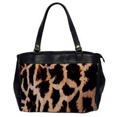 Giraffe Texture Yellow And Brown Spots On Giraffe Skin Office Handbags