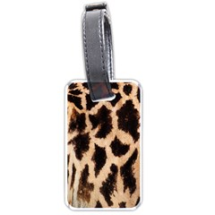Giraffe Texture Yellow And Brown Spots On Giraffe Skin Luggage Tags (two Sides)