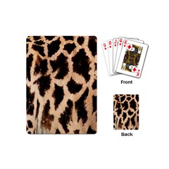 Giraffe Texture Yellow And Brown Spots On Giraffe Skin Playing Cards (Mini)