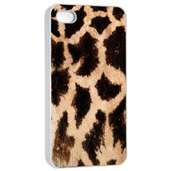 Giraffe Texture Yellow And Brown Spots On Giraffe Skin Apple iPhone 4/4s Seamless Case (White)