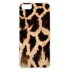 Giraffe Texture Yellow And Brown Spots On Giraffe Skin Apple iPhone 5 Seamless Case (White)