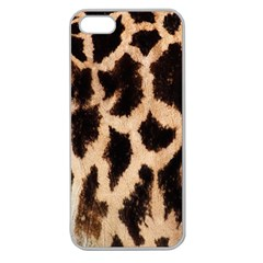 Giraffe Texture Yellow And Brown Spots On Giraffe Skin Apple Seamless Iphone 5 Case (clear)