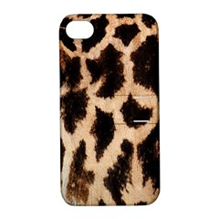 Giraffe Texture Yellow And Brown Spots On Giraffe Skin Apple iPhone 4/4S Hardshell Case with Stand