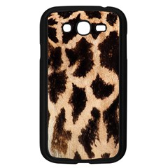 Giraffe Texture Yellow And Brown Spots On Giraffe Skin Samsung Galaxy Grand Duos I9082 Case (black)