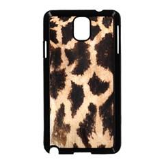 Giraffe Texture Yellow And Brown Spots On Giraffe Skin Samsung Galaxy Note 3 Neo Hardshell Case (Black)