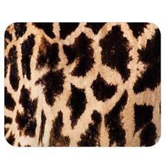 Giraffe Texture Yellow And Brown Spots On Giraffe Skin Double Sided Flano Blanket (medium)