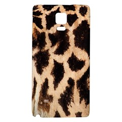 Giraffe Texture Yellow And Brown Spots On Giraffe Skin Galaxy Note 4 Back Case