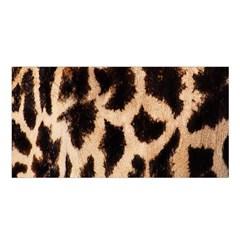 Giraffe Texture Yellow And Brown Spots On Giraffe Skin Satin Shawl