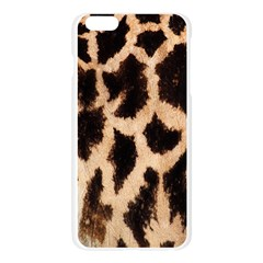 Giraffe Texture Yellow And Brown Spots On Giraffe Skin Apple Seamless iPhone 6 Plus/6S Plus Case (Transparent)