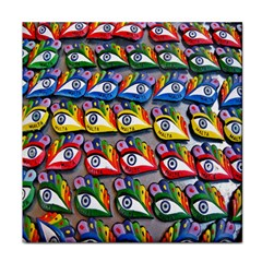 The Eye Of Osiris As Seen On Mediterranean Fishing Boats For Good Luck Tile Coasters