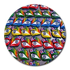 The Eye Of Osiris As Seen On Mediterranean Fishing Boats For Good Luck Round Mousepads