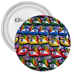 The Eye Of Osiris As Seen On Mediterranean Fishing Boats For Good Luck 3  Buttons