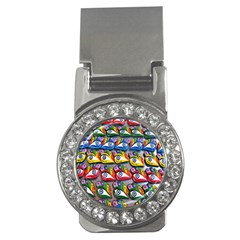 The Eye Of Osiris As Seen On Mediterranean Fishing Boats For Good Luck Money Clips (cz)