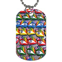The Eye Of Osiris As Seen On Mediterranean Fishing Boats For Good Luck Dog Tag (One Side)