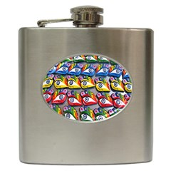 The Eye Of Osiris As Seen On Mediterranean Fishing Boats For Good Luck Hip Flask (6 Oz)