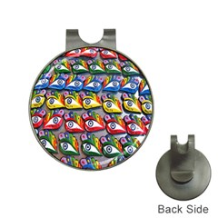The Eye Of Osiris As Seen On Mediterranean Fishing Boats For Good Luck Hat Clips with Golf Markers