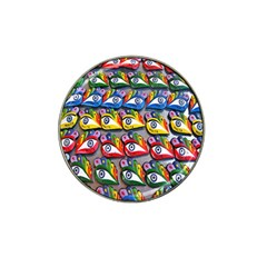 The Eye Of Osiris As Seen On Mediterranean Fishing Boats For Good Luck Hat Clip Ball Marker (4 pack)