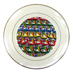 The Eye Of Osiris As Seen On Mediterranean Fishing Boats For Good Luck Porcelain Plates