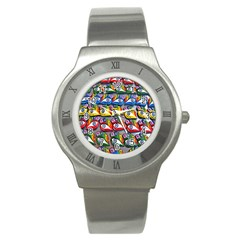The Eye Of Osiris As Seen On Mediterranean Fishing Boats For Good Luck Stainless Steel Watch