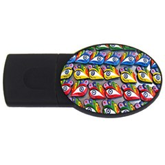 The Eye Of Osiris As Seen On Mediterranean Fishing Boats For Good Luck Usb Flash Drive Oval (4 Gb)