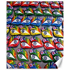 The Eye Of Osiris As Seen On Mediterranean Fishing Boats For Good Luck Canvas 8  X 10