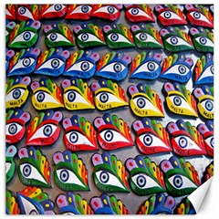 The Eye Of Osiris As Seen On Mediterranean Fishing Boats For Good Luck Canvas 12  X 12