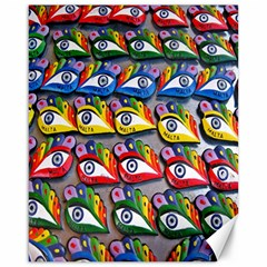 The Eye Of Osiris As Seen On Mediterranean Fishing Boats For Good Luck Canvas 16  x 20
